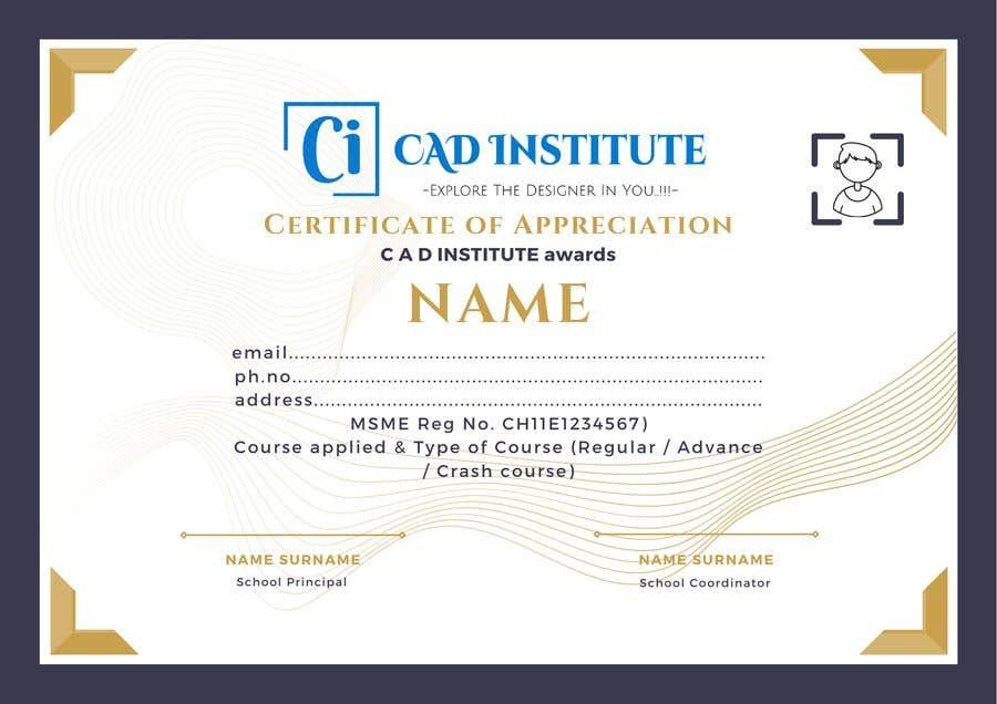 Konkurrenceindlæg #                                        42                                      for                                         Design 2 Certificates & 1 Marksheet format (for both Digital Certification & Hard Copy)