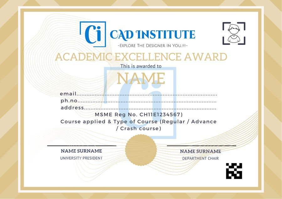 Konkurrenceindlæg #                                        44                                      for                                         Design 2 Certificates & 1 Marksheet format (for both Digital Certification & Hard Copy)
