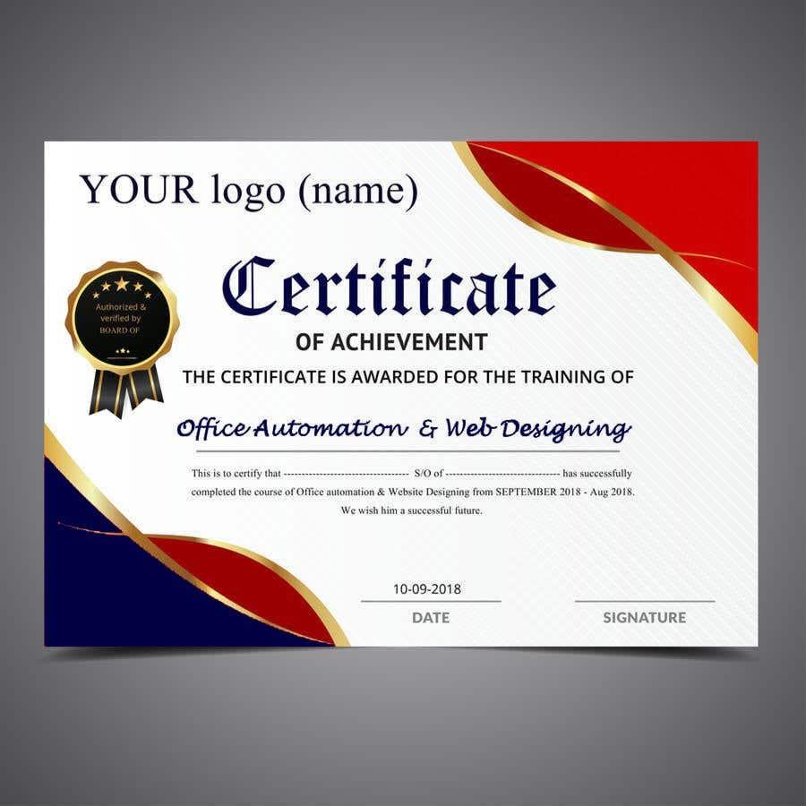 Konkurrenceindlæg #                                        26                                      for                                         Design 2 Certificates & 1 Marksheet format (for both Digital Certification & Hard Copy)