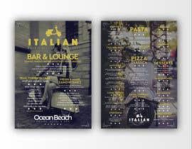 nowshinurmi76 tarafından Create an attractive menu design for Italian Cafe (Ocean Beach Hotel and Spa için no 20