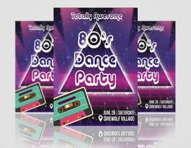 #192 for 80s  Dance Party invitation/flyer by TheCloudDigital
