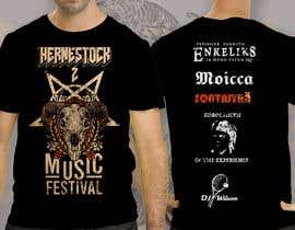 antoniustoni tarafından Create a Design for rock / metal festival t shirt için no 36