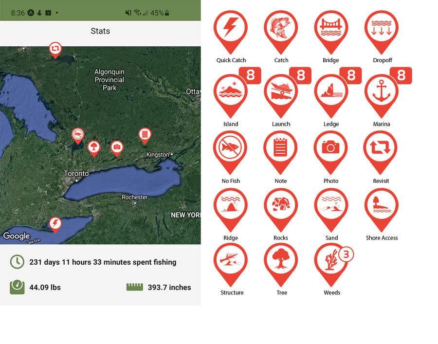 Penyertaan Peraduan #                                        10                                      untuk                                         Design map markers for the following features