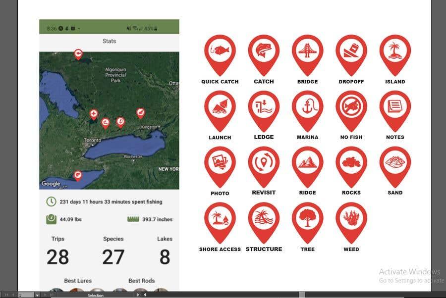 Penyertaan Peraduan #                                        22                                      untuk                                         Design map markers for the following features