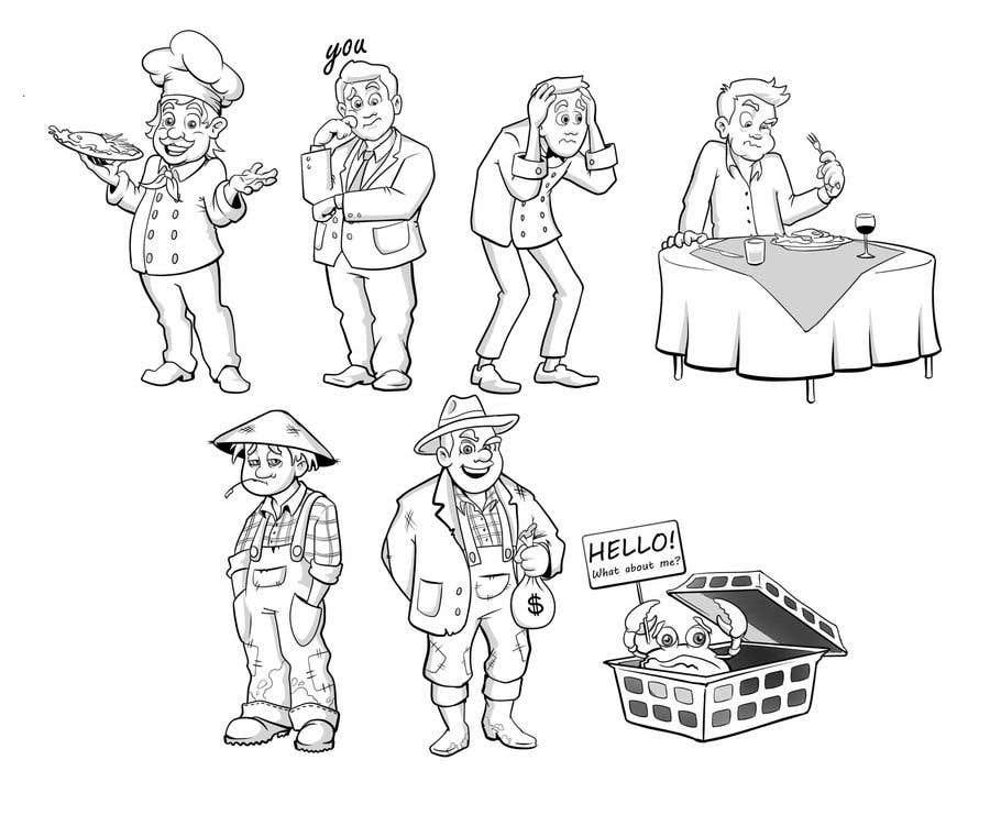 Proposition n°                                        36                                      du concours                                         Draw us 7 black pen line characters