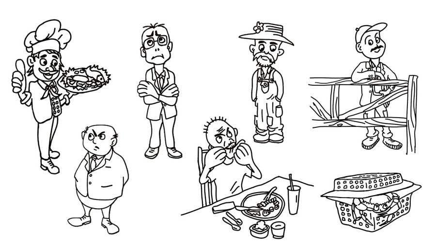 Proposition n°                                        33                                      du concours                                         Draw us 7 black pen line characters