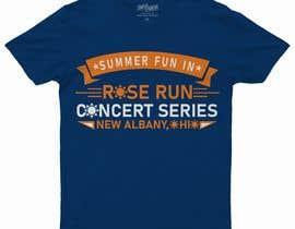 #182 untuk Summer Fun Rose Run Concert Series Logo for Tee shirts oleh raselstatiub