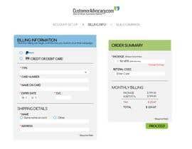 #7 untuk Mockup 'Billing Information' Page(s) oleh glai1591