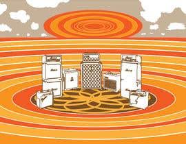 #48 cho Stacked Guitar Amp Illustration of Stonehenge bởi csr33grafico