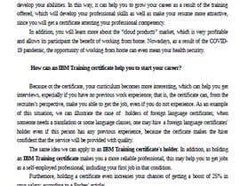 #21 untuk Present how an IBM Certification would accelerate your career or business oleh clautenisjunior