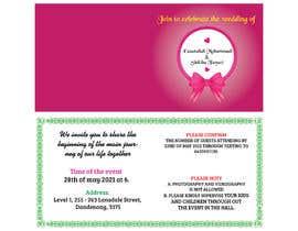 #58 untuk wedding ceremony invitation card oleh mdaminurislam57