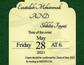 #54 untuk wedding ceremony invitation card oleh jony2021