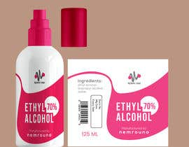 #37 for Alcohol spray 125ml label design by shiblee10