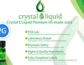 #19 for Design a Banner for Crystal E Liquid - PG/VG Line af LampangITPlus