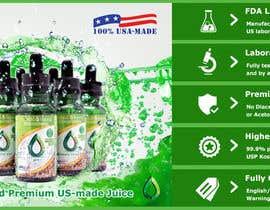 #24 for Design a Banner for Crystal E Liquid - PG/VG Line af ducdungbui