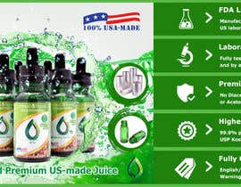 #25 for Design a Banner for Crystal E Liquid - PG/VG Line by ducdungbui