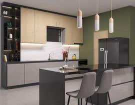 #29 untuk 3D Rendering of a Kitchen Design oleh marijamil93