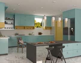 #25 untuk 3D Rendering of a Kitchen Design oleh memmmo