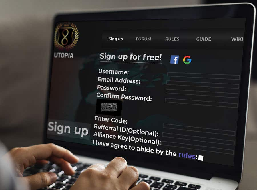 Bài tham dự cuộc thi #                                        29                                      cho                                         Utopia Game Home Page and Logo