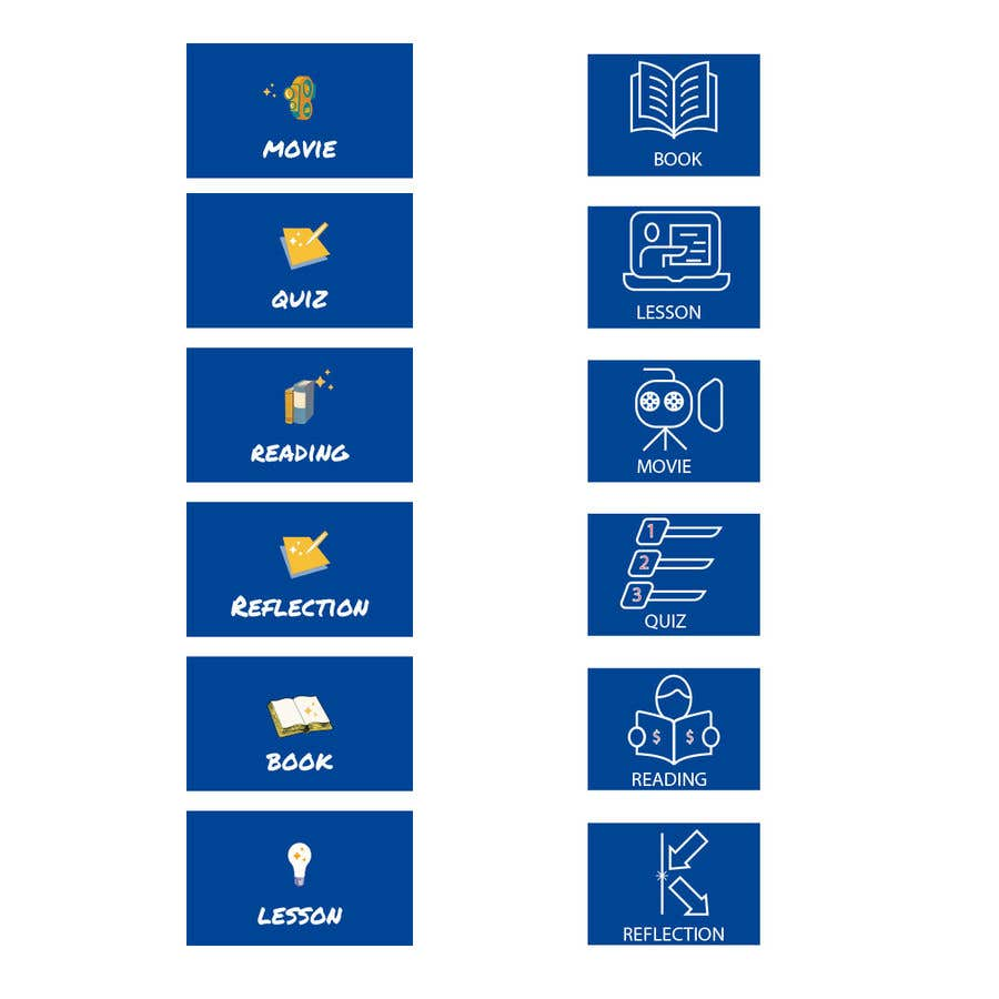 Penyertaan Peraduan #                                        26                                      untuk                                         6 icons for a website