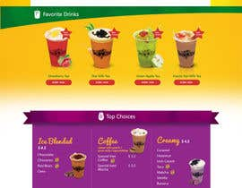 #15 for Design a Website Mockup for Bubble Tea business by leandeganos