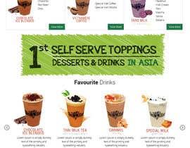 Nro 8 kilpailuun Design a Website Mockup for Bubble Tea business käyttäjältä Lakshmipriyaom