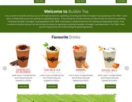 #9 for Design a Website Mockup for Bubble Tea business by Lakshmipriyaom