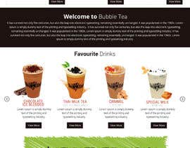 #10 for Design a Website Mockup for Bubble Tea business by Lakshmipriyaom