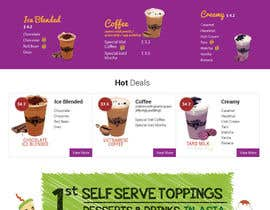#21 for Design a Website Mockup for Bubble Tea business af Lakshmipriyaom