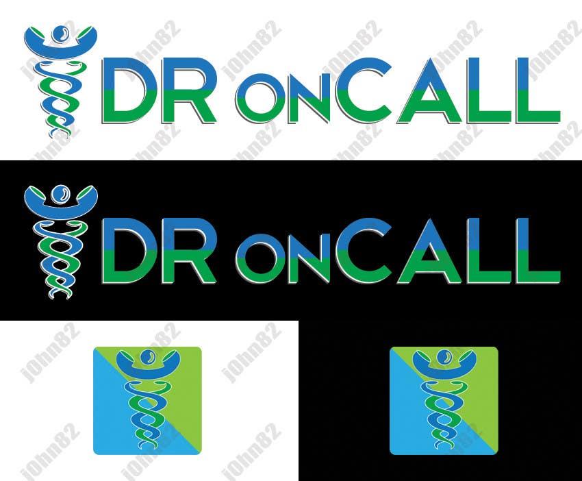 """Kilpailutyö #19 kilpailussa Design a Logo for """"Dr OnCall"""" application/website"""