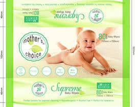 nº 14 pour Create Print and Packaging Designs for A Baby Wet Wipes par elizewatkins