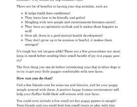 #33 para Write two blog articles about raising puppies (opportunity for long-term collaboration) por naohmelawrence