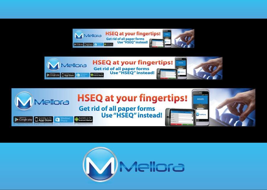 "Kilpailutyö #                                        10                                      kilpailussa                                         Design a Banner for Mellora's app ""HSEQ"""