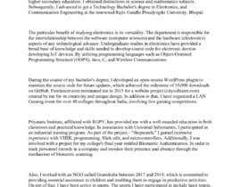 #10 para Statement of Purpose (SOP) writer por cfigueira9