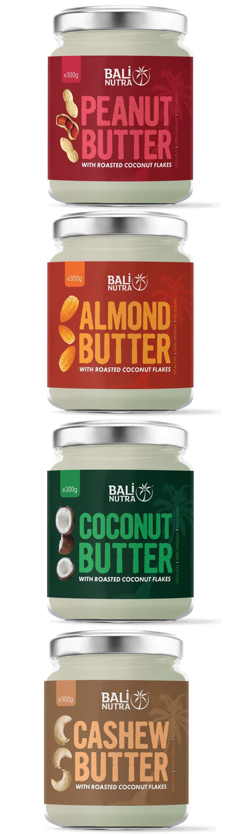 Konkurrenceindlæg #                                        50                                      for                                         Food Label design (4 x flavors of Butter, Almond, Peanut, Cashew, Original)