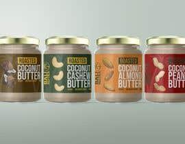 #44 for Food Label design (4 x flavors of Butter, Almond, Peanut, Cashew, Original) af kalnienk