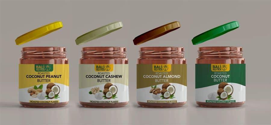 Konkurrenceindlæg #                                        4                                      for                                         Food Label design (4 x flavors of Butter, Almond, Peanut, Cashew, Original)