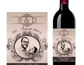 #41 untuk Design a wine bottle label for a wedding! oleh AhmedAmoun