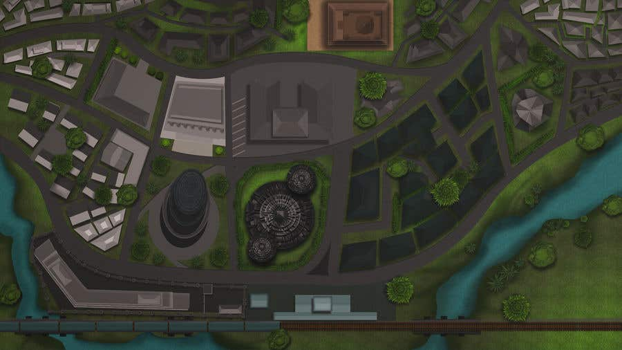 Kilpailutyö #                                        9                                      kilpailussa                                         Нужно нарисовать карту района города для DnD игры.
