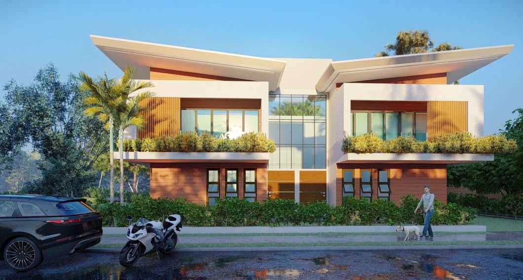 Penyertaan Peraduan #                                        3                                      untuk                                         Facade duplex house proposal desing