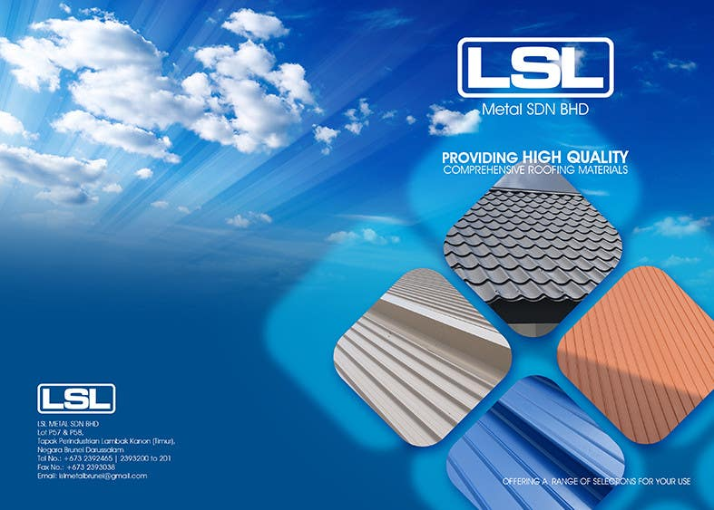 Penyertaan Peraduan #15 untuk Design a cover for high-end metal roof colour chart