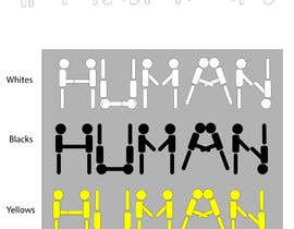 Nro 22 kilpailuun We need a vector illustration of the word 'HUMAN' made out of people käyttäjältä mathsjonah