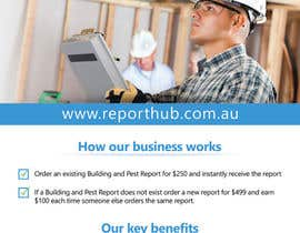 nº 63 pour Design a Flyer for our business www.ReportHub.com.au par damirruff86