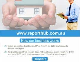 nº 17 pour Design a Flyer for our business www.ReportHub.com.au par creazinedesign