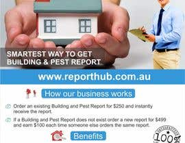 nº 26 pour Design a Flyer for our business www.ReportHub.com.au par creazinedesign