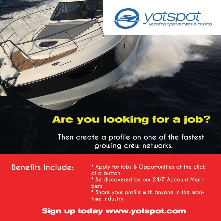 Proposition n°3 du concours Design a Flyer for Yotspot (a superyacht recruitment company)