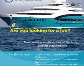 #7 untuk Design a Flyer for Yotspot (a superyacht recruitment company) oleh woworks