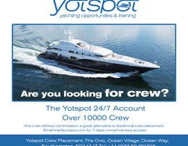 #11 untuk Design a Flyer for Yotspot (a superyacht recruitment company) oleh bojandjordjevic