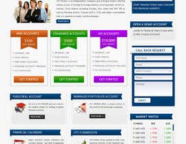 #12 for Design a Website Mockup for finance website by mastersintech