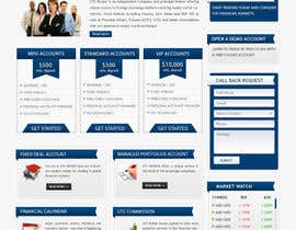 nº 15 pour Design a Website Mockup for finance website par mastersintech